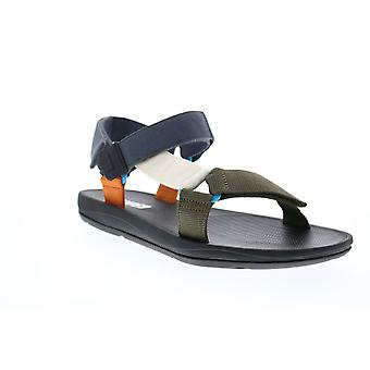 Camper Match  Mens Black Canvas Strap Sport Sandals Shoes