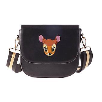 Disney Bambi Porträtt Lock Över Svart Axelväska