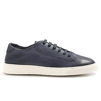 J. Wilton Blue Perforated Leather Sneakers