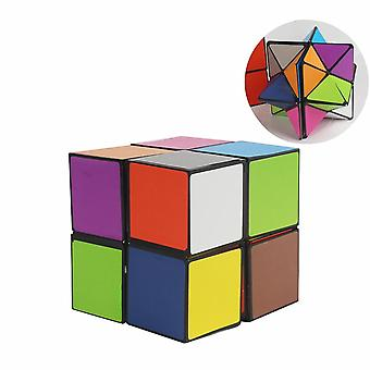 Colorful Folding Cube  Star Infinite Cube Puzzle Toy  (multi)