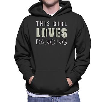 Strictly Come Dancing This Girl Loves Glitter Print Men's Hooded Sweatshirt
