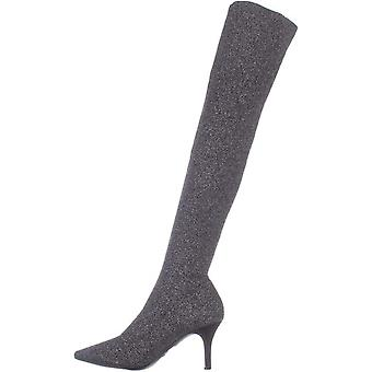 INC International Concepts Womens Briella Fabric Pointed Toe Over Knee Fashion Boots