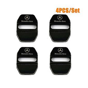 Mercedes Benz 4PCS Door Lock Cover Chrome Catch Badge AMG For A B C E S Class CLA GLA SLK