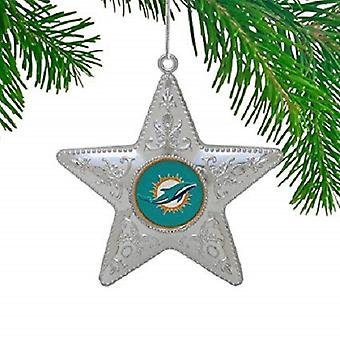 Miami Dolphins NFL Sports Collectors Series Silver Star Ornament