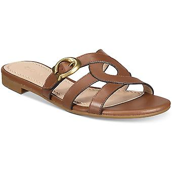 Coach Women's Kennedy Flat Sandals Saddle (8)