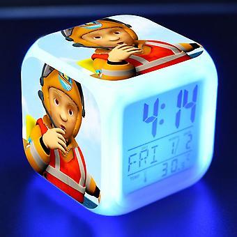 Colorful Multifunctional LED Children's Alarm Clock -Bombeiro Sam #13