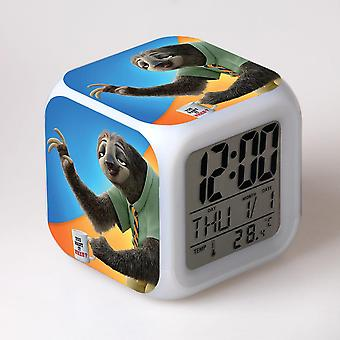 Colorful Multifunctional LED Children's Alarm Clock -Zootopia #10