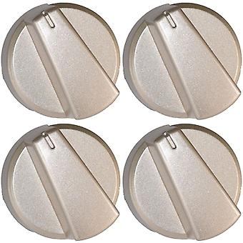 Belling Compatible Silver Oven Cooker Hob Control Knob Pack of 4