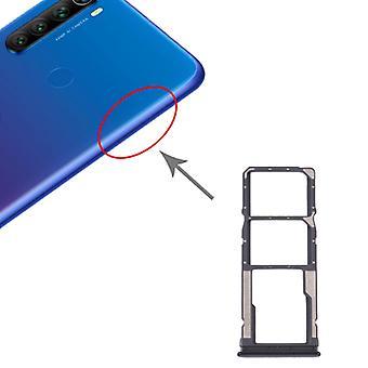 SIM-kaartlade + SIM-kaartlade + Micro SD-kaartlade voor Xiaomi Redmi Note 8T / Redmi Note 8 (Zwart)