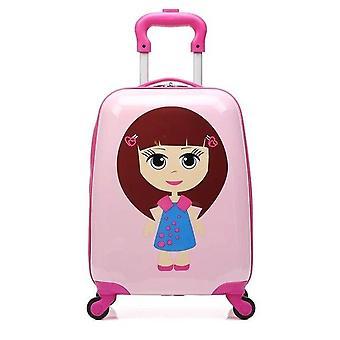 Mala de mão com rodas crianças rotadoras de bagagem viagem de bagagem rolando bagagem