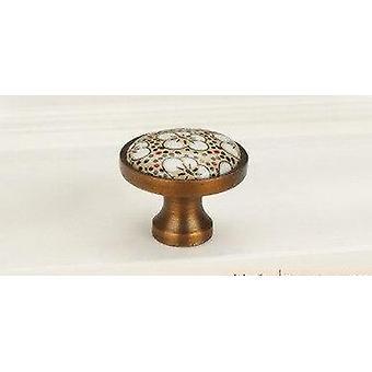 Antieke bronzen keramische kast handvatten- Vintage lade knoppen
