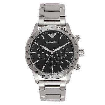 Armani AR11241 Emporio Black and Silver Chronograph Mens Watch