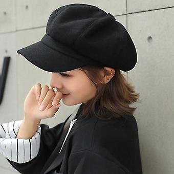 Parent-child Adjustable Winter Beret Octagonal Newsboy Cap