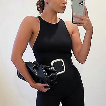 Body Tops Streetwear Bodysuits Clothes Catsuit Size O Neck Summer Sleeveless