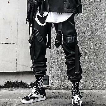Hip-hop Jogger Men's Overalls Multi-pocket Ribbon Men's Sports Pants