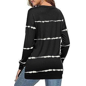 Womens Tie-dye Stripes Sweatshirt