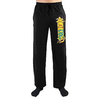Nickelodeon catdog cartoon logo print men's lounge pants