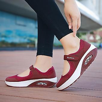 Summer Flat Casual Mesh Breathable Slip On Fabric Sneakers Shoes