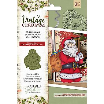 Crafter's Companion Vintage Christmas St.Nicholas Stamp & Dies