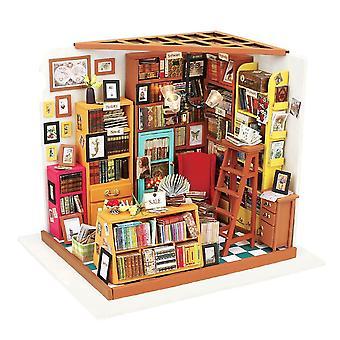 Rolife diy miniatura dollhouse kits livros loja de bonecas de madeira modelo de presentes criativos para crianças, adolescente