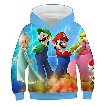 ファッション3Dプリントソフトチャイルドパーカー漫画の服は子供のためのフード付きスウェットシャツ