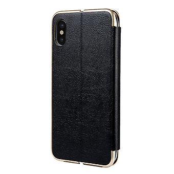 Samsung Galaxy S7 Flip Læder Flip Sag Cover - Sort