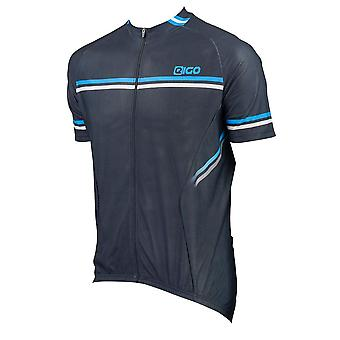 Eigo Diamond Mens Short Sleeve Cycling Jersey Black / Blue / White
