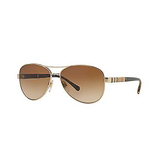 Burberry BE3080 1145/13 Light Gold/Brown Gradient Sunglasses