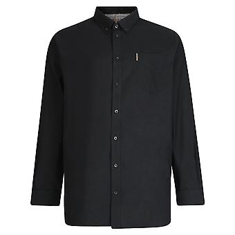 Ben Sherman Soft Feel Long Sleeve Oxford Shirt - Navy