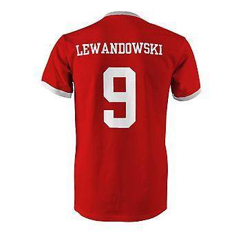 روبرت ليفاندوفسكي 9 بولندا بلد المسابقة تي شيرت