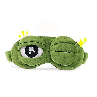 Travel Sleep Eye Mask, 3d Sad Frog Padded Shade Cover Sleeping Mask  (army