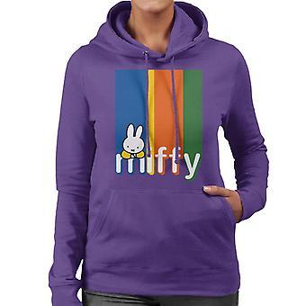 Nijntje Classic Block Colours Logo Women's Sweatshirt met capuchon