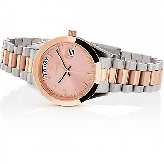 Hoops Luxury Day Date Silver And Gold Watch