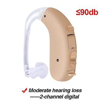 Cofoe intelligent bte hearing aid digital portable sound amplifier dual channel noise reduction for severe hearing loss ear care