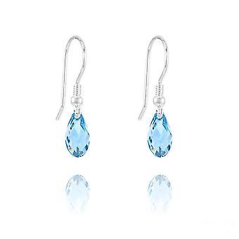 Aquamarine swarovski kristalli kyynel korvakorut