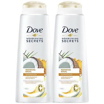 2pk af 400ml Dove nærende Secrets Gendannelse Ritual Shampoo med kokosolie