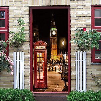 Telephone Police Box Mural Self-adhesive Vinyl Decal Home Decor Door Poster