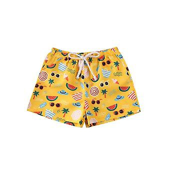 Children Cartoon Print Swimwear Bathing Suit, Baby Summer Beach Short