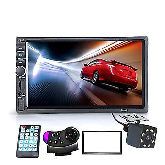 """7"""" Autoradio touch screen, stereo Hd da 2 pollici, Bluetooth Fm e lettore Mp5 Usb con"""