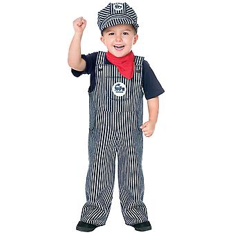 Train Engineer Conductor Occupation Book Week Child Toddler Boys Costume 3T-4T