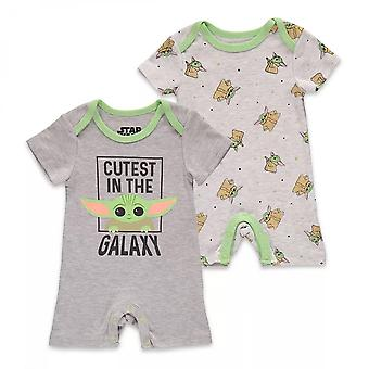 Star Wars The Mandalorian Child 2-Pack Bodysuit Romper Set