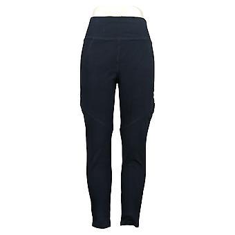 Susan Graver Leggings Weekend Premium Stretch Blue A367248