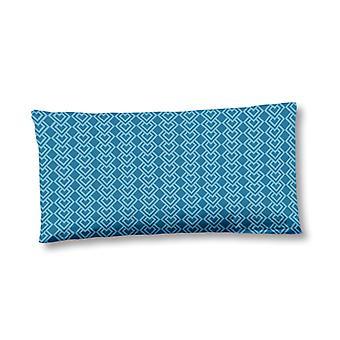 pillow cover 40 x 80 cm cotton/satin blue