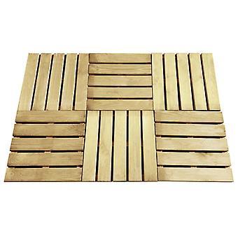 vidaXL Terrace boards 6 pcs. 50×50 cm wood green