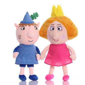 2pcs Ben And Holly Soft Doll Cute Plush Toy Birthday Gift Figure