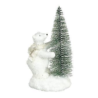 Heaven Sends Polar Bear with Tree Decoration