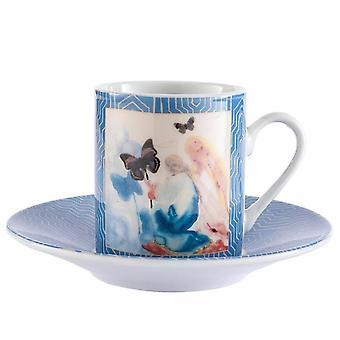 Enesco Dali Kneeling Woman Espresso Cup & Saucer (set Of 2)