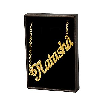 KL Natasha - 18-carat Gold Plated Necklace, Adjustable Chain 16-19 cm, in Gift Box