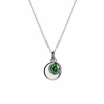 August Peridot Birthstone Hänge - 40cm +3cm förlängare - Smycken Gåvor för kvinnor från Lu Bella