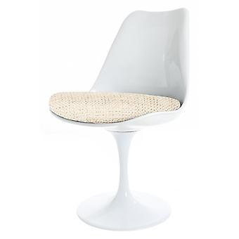 Eero Saarinen COPY - Tulip Style Set - Table circulaire moyenne blanche avec quatre chaises - Différentes couleurs